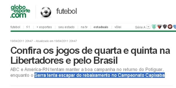 E O Globo Esporte Estava Indo Tão Bem Cultura Fc