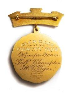 1904 - medalha broche golfe - verso